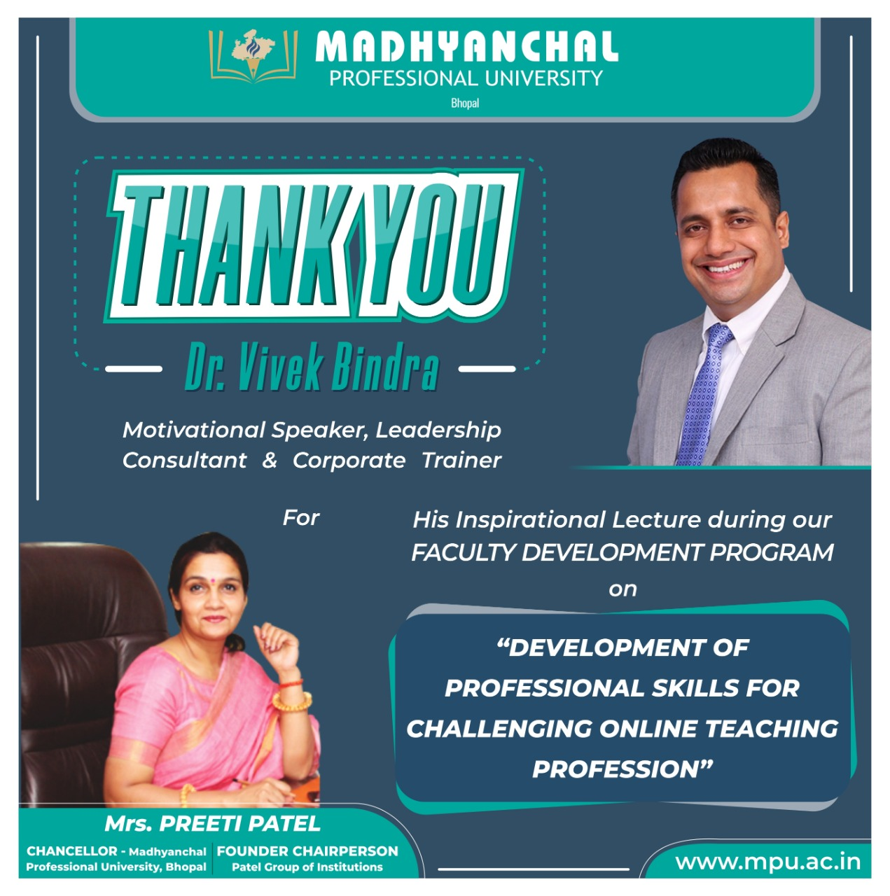 Thank you Dr. Vivek Bindra