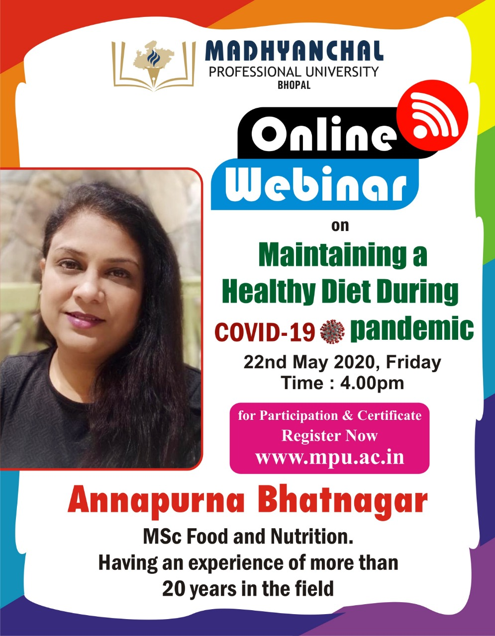 Webinar on Healthy Eating During COVID-19