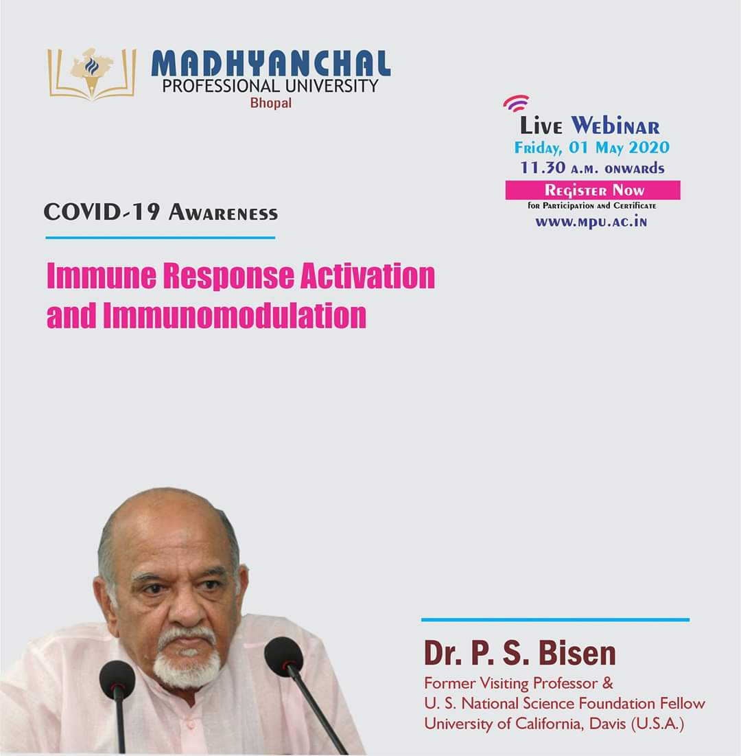 COVID-19 Awareness, Immune Response Activation and Immunomodulation By Dr. P.S. Bisen