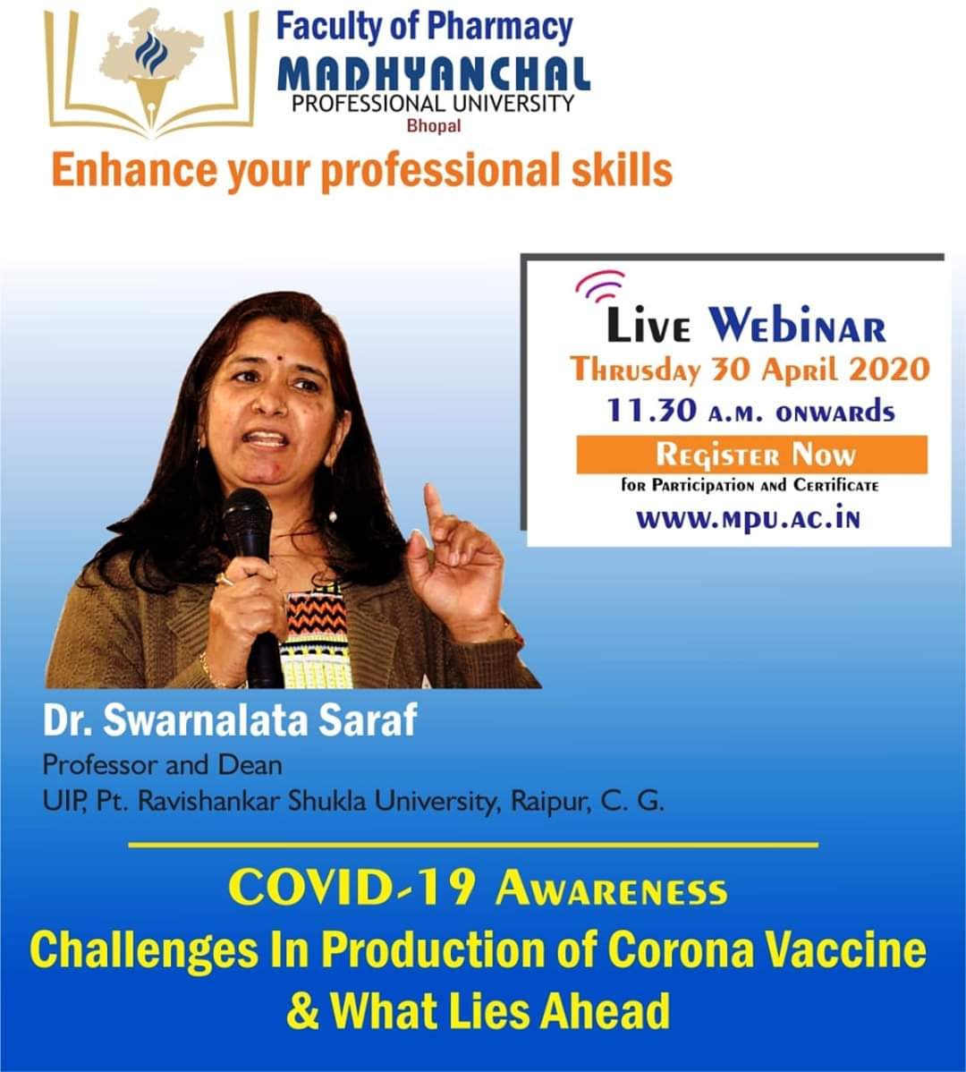 COVID-19 Awareness Challenges in Production of Corona Vaccine & What Lies Ahead by Dr. Dr. Swarnalata Saraf